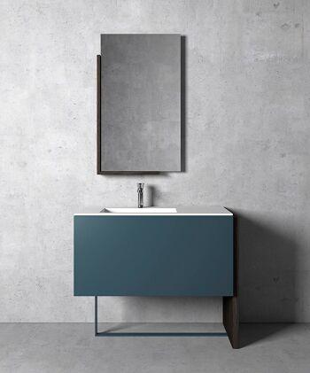 ארון אמבטיה אסימטרי יחודי בגוון כחול