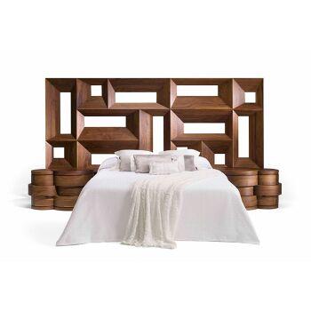 ראש מיטה ייחודי מעץ
