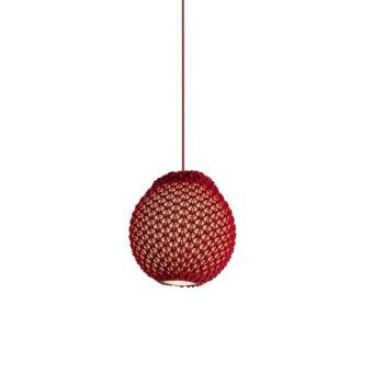 מנורה סרוגה תלויה FAKKING בצבע אדום
