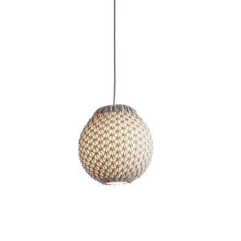 מנורה סרוגה תלויה FAKKING בצבע שמנת