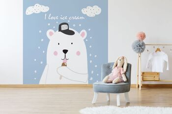 טפט דובי לחדר ילדים