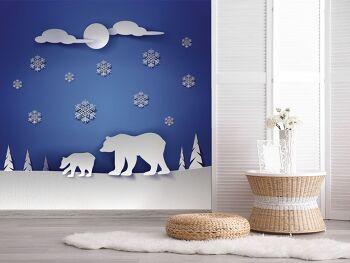 טפט דובים לחדר ילדים
