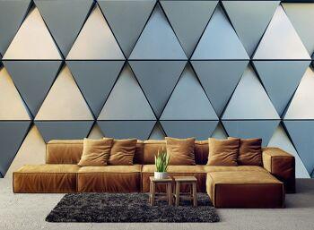 טפטים לסלון – טפט גאומטרי משושים