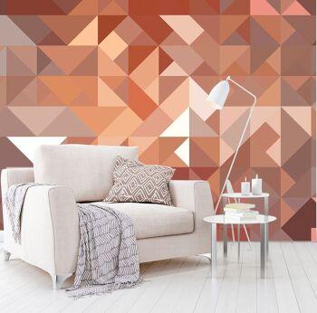 טפטים לסלון – טפט גאומטרי משולשים