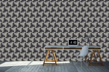 טפטים לחדר עבודה – טפט גאומטרי בשחור לבן