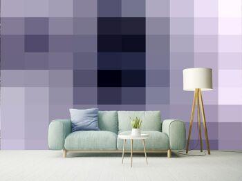 טפטים לסלון – טפט גאומטרי מרובעים