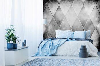 טפטים לחדרי שינה – טפט גאומטרי משושים