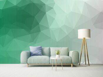טפטים לסלון – טפט גאומטרי בגוון ירוק