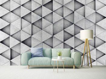 טפטים לסלון – טפט משולשים תלת מימדי