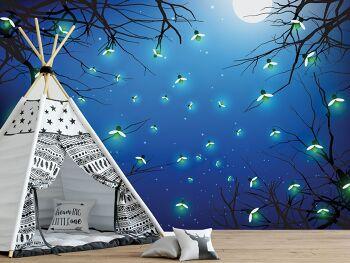 טפט גחליליות לחדרי ילדים