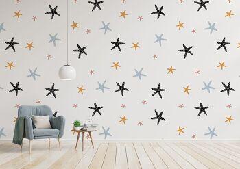 טפט כוכבים לחדרי ילדים