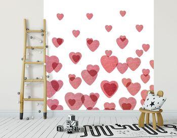 טפט לבבות לחדרי ילדים