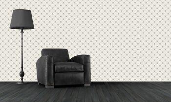 טפטים מיוחדים לבית – טפט פטרן בשחור לבן