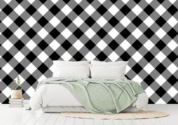 טפטים לחדרי שינה – טפט משובץ
