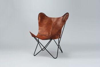 כורסא עור ליר חום