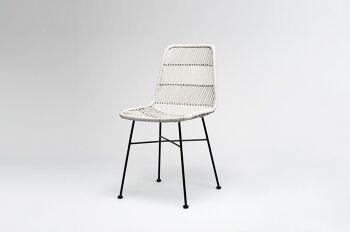 כסא אוכל טאב בצבע אפור