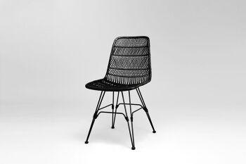 כסא אוכל פרלו שחור