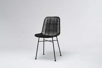 כסא אוכל טוטון שחור
