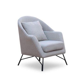 כורסא בד סינגל קרם