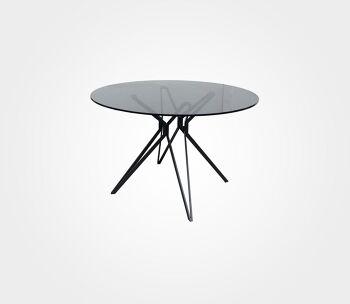 שולחן אוכל עגול Spider1 – רגל שחורה