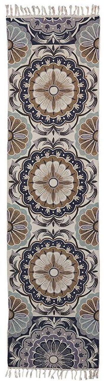 ראנר 73 – שטיח צמר מאורך למסדרון ולמטבח בגוונים חומים.