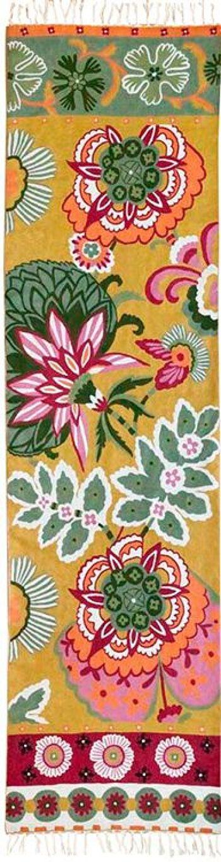 דגם Spring Blossom- שטיח צמר מאורך למסדרון ולמטבח.