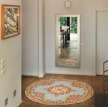 דגם 65 – שטיח צמר עגול וצבעוני לבית