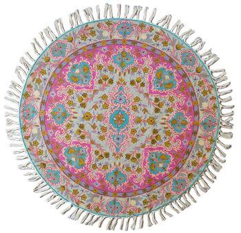 דגם 24 – שטיח צמר עגול וצבעוני לבית