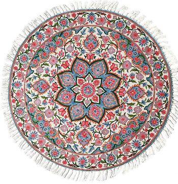 דגם 2 – שטיח צמר עגול וצבעוני לבית