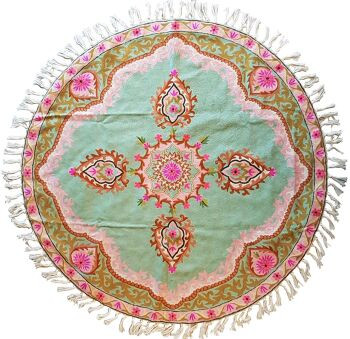 Lucky Mint – שטיח צמר עגול וצבעוני לבית