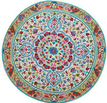 Living colors – שטיח צמר עגול בגווני תכלת לבית