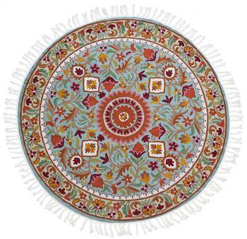 דגם 66 – שטיח צמר עגול וצבעוני לבית