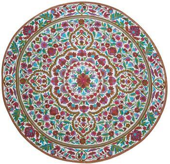 דגם 1 – שטיח צמר עגול וצבעוני לבית
