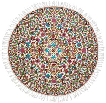 Explosive colors -שטיח צמר עגול וצבעוני לבית
