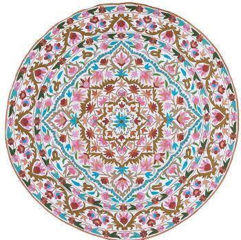 שטיח צמר עגול וצבעוני לבית
