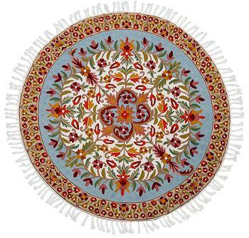 דגם 64 -שטיח צמר עגול וצבעוני לבית