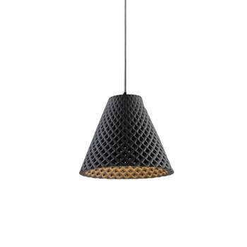 HELIA מנורה תלויה מבטון בצבע אפור כהה בהשראת פרח החמניה.