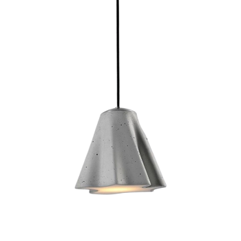 stem מנורה תלויה מבטון בצבע אפור כהה