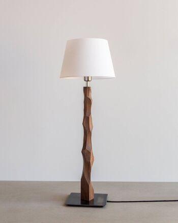 מנורת שולחן סוליד-אגוז אמריקאי