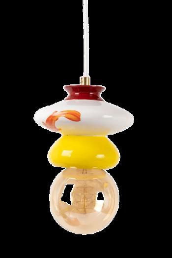 מנורה קרמית צהובה