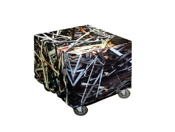 שידת מגירות מודפסת על גלגלים