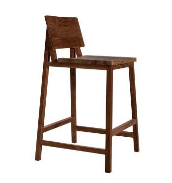 כסא בר עץ טיק TEAK N3