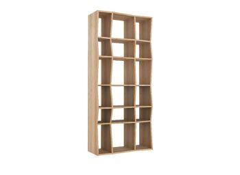 ספרית עץ אלון Oak Z rack