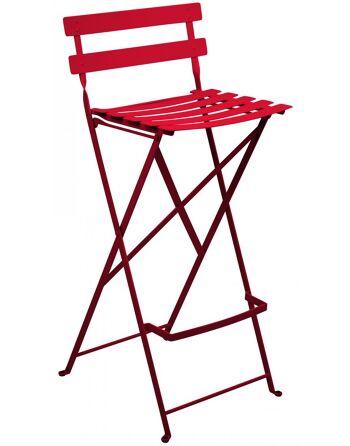 כסא בר לגינה Bistro אדום