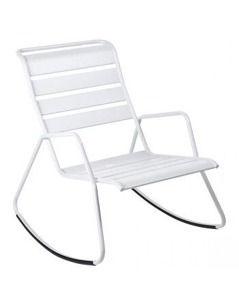 כסא נדנדה לגינה Luxembourg לבן