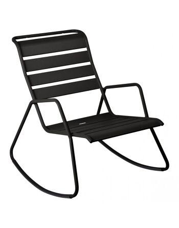 כסא נדנדה לגינה Luxembourg שחור