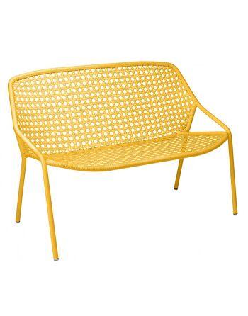 ספה דו/תלת מושבית לגינה Croisette צהוב
