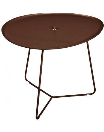 שולחן קפה לגינה Cocotte חום