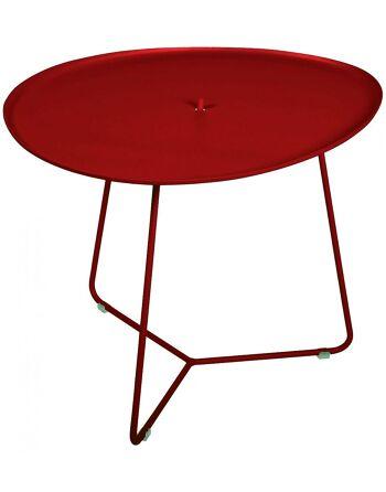 שולחן קפה לגינה Cocotte בורדו