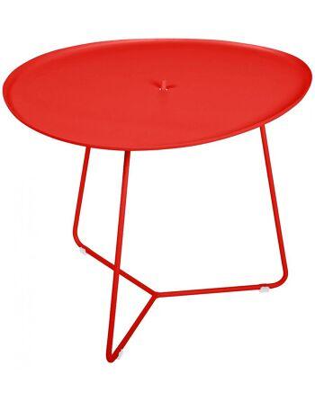 שולחן קפה לגינה Cocotte אדום